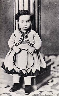 Toulouse Lautrec as a child