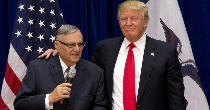 "The ACLU, which has said an Arpaio pardon would amount to an ""official presidential endorsement of racism,"" is circulating a petition against such a move; more than 100,000 have added their names so far. Human Rights Watch also is discouraging a pardon Though the former sheriff faces up to six months in prison, the president promised at his rally Tuesday he will be ""just fine."""
