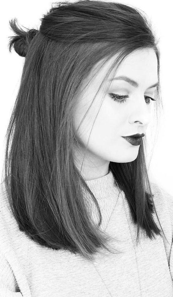 Coole, mittellange, geschichtete Frisuren für einen trendigen Look