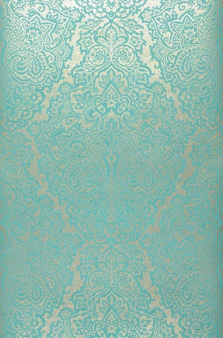 Best 25 turquoise wallpaper ideas on pinterest - Green and turquoise wallpaper ...