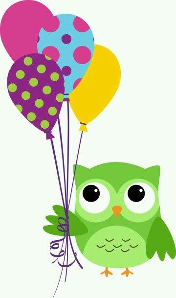 Eule mit Ballons