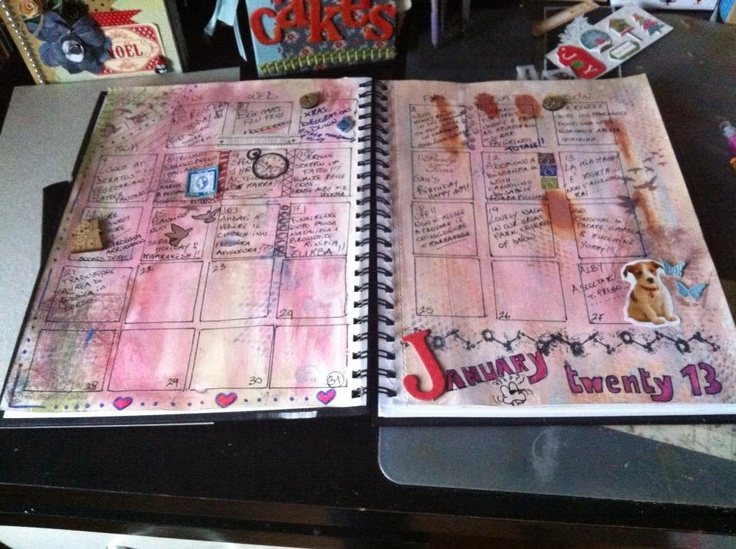 Art Journal Calendar Pages : Best calendar journal pages images on pinterest