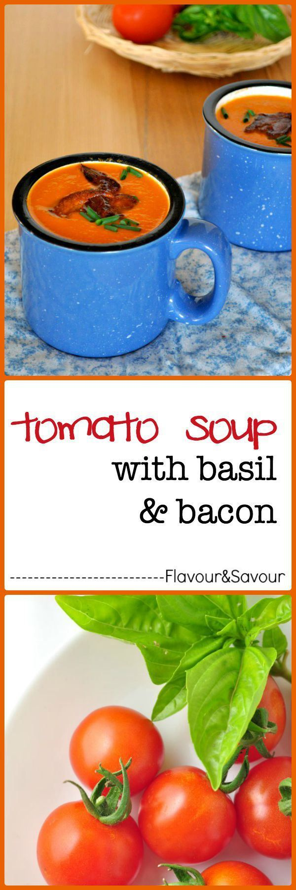 Make This Quick Creamy Dairy Free Tomato Soup, Topped With Basil And Bacon  When