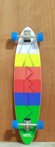 """Madrid 39"""" Paper Longboard Complete Not likin the shape of this board, but the deck colors are pretty great."""