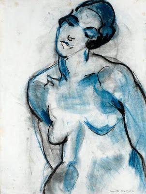 Nu feminino (aquarela s/papel), de Anita Malfatti  1915-16, [Coleção Hecilda e Sérgio Fadel, RJ]