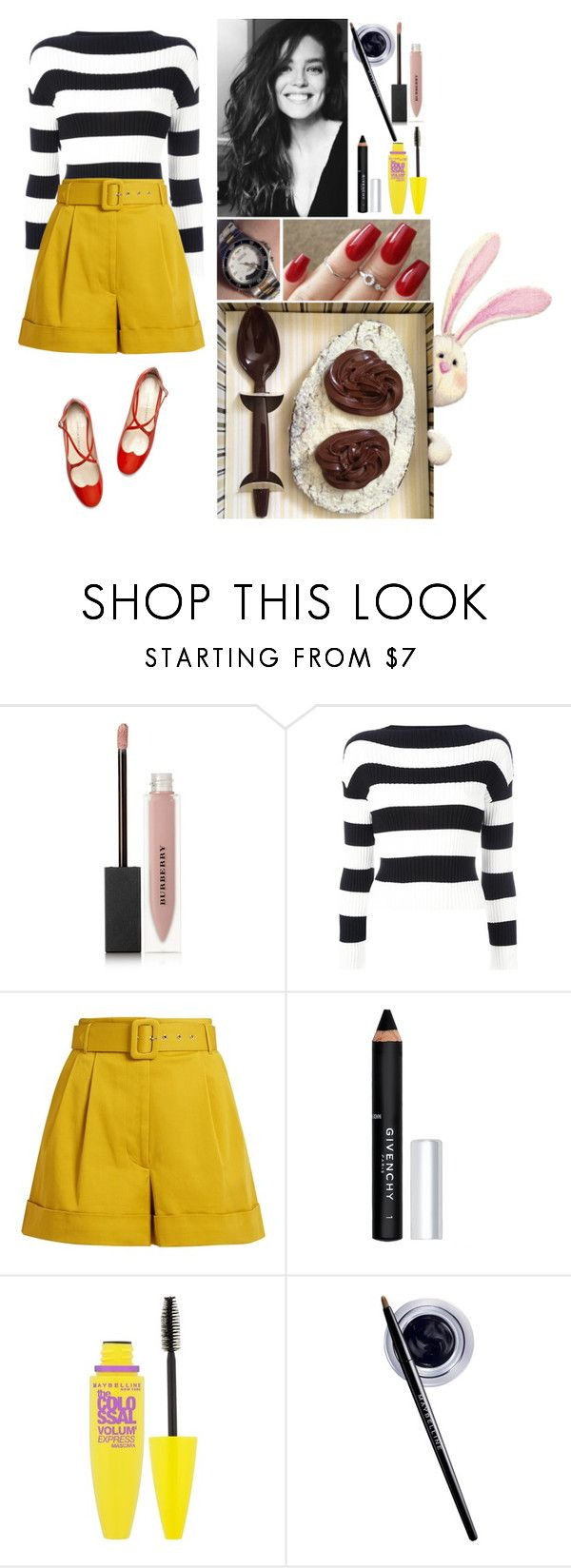 """Easter!"" by annacastrolima ❤ liked on Polyvore featuring Burberry, GET LOST, Boutique Moschino, Isa Arfen, Givenchy, Maybelline, Easter, chocolate, easteregg and chocolateegg"