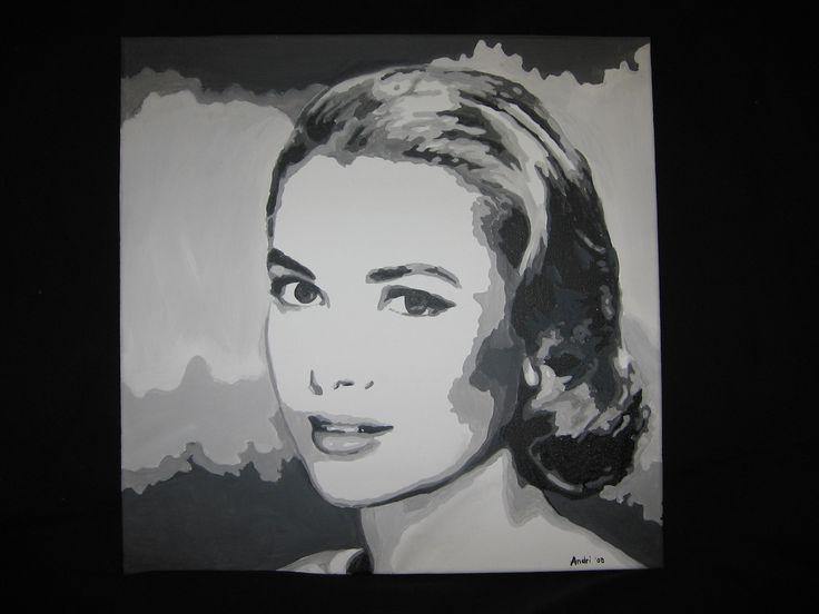 Grace Kelly - acrylic on canvas