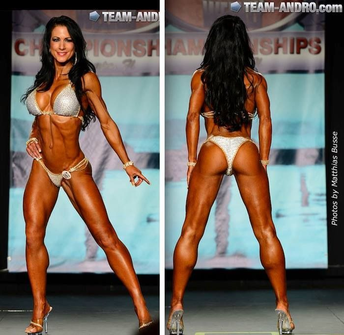 The beautiful IFBB Pro Janet Lynn West competing at 52