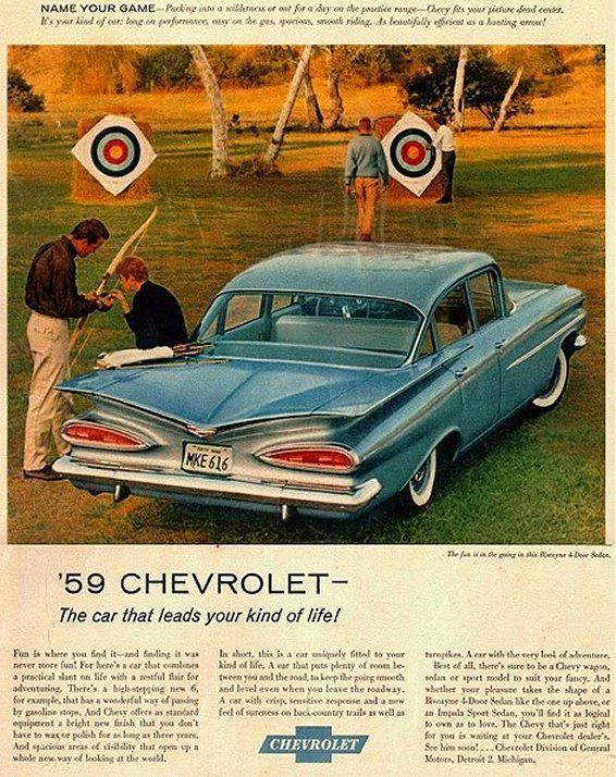 Brochure 1959 CHEVROLET BISCAYNE POSTCARD ORIGINAL 59 CHEVY Promotional Item