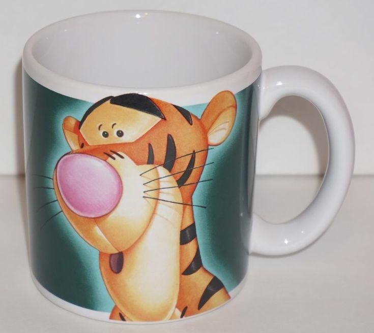 The Disney Store Big Tigger More Bounce Per Ounce Green Coffee / Tea Mug