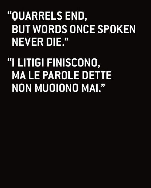 Italian words of wisdom