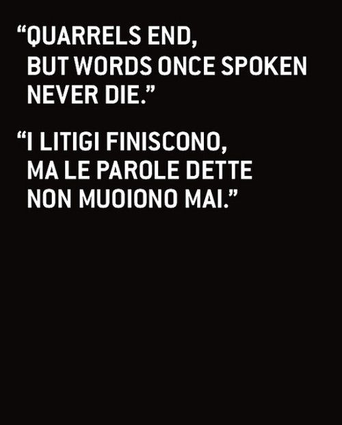 Italian words of wisdom
