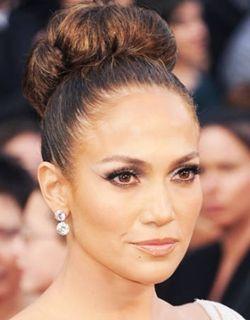 Jennifer Lopez Neat Big Bun Bridal Updo Hairstyle