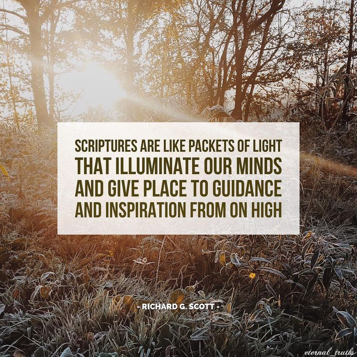 """""""Because scriptures are generated from inspired communication through the Holy Ghost, they are pure truth. ... Scriptures are like packets of light that illuminate our minds and give place to guidance and inspiration from on high."""" http://youtu.be/zeA8o-VFdWQ From #ElderScott's http://pinterest.com/pin/24066179229025576 inspiring #LDSconf http://facebook.com/223271487682878 message http://lds.org/general-conference/2011/10/the-power-of-scripture #ShareGoodness"""