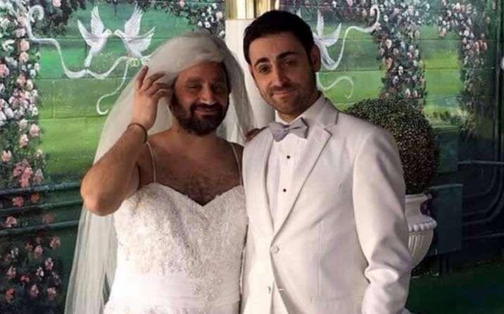 Cyril Hanouna et Camille Combal se sont mariés ce week-end à Las Vegas (Etats-Unis). - Twitter