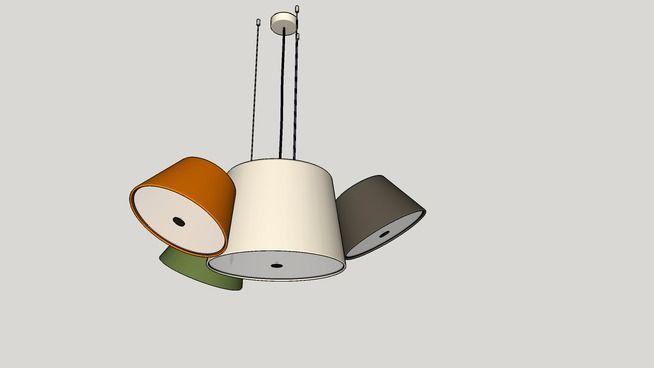 Pendant Lights, Suspension MARSET TAM TAM, светильник MARSET TAM TAM, люстра - 3D Warehouse