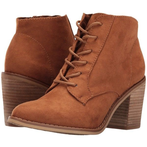 Rocket Dog Dessa (Cinnamon Coast) Women's Lace-up Boots (105 CAD) ❤ liked on Polyvore featuring shoes, boots, ankle boots, bohemian boots, oxford shoes, lace up oxford boots, lace up bootie and block heel boots