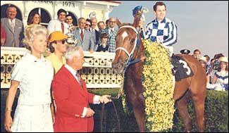 May 19, 1973 Preakness Stakes Secretariat in the winners circle.