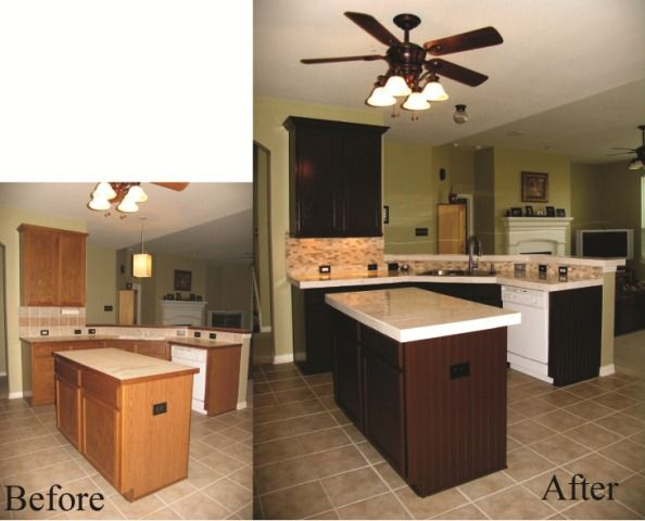 Paint sherwin williams turkish coffee in an oil based for Cappuccino color kitchen cabinets