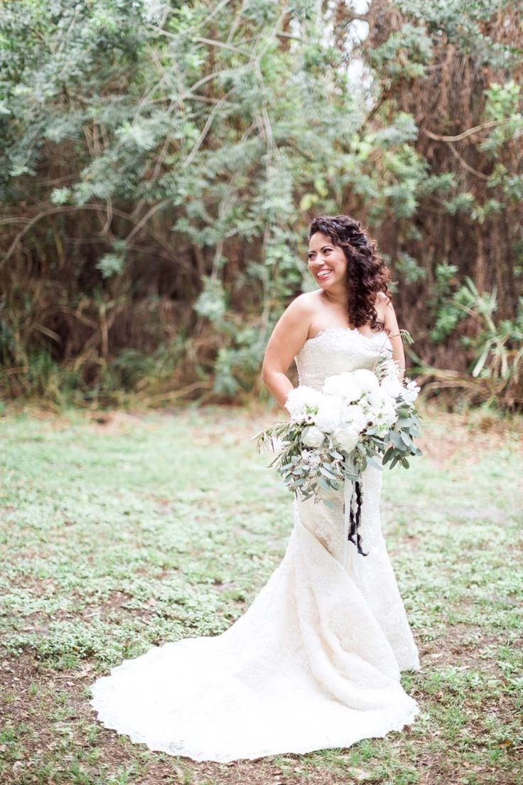 Giant, white wedding bouquet –  A Glam New Year's Eve Wedding at Buckingham Farms in Fort Myers, FL https://www.thecelebrationsociety.com/weddings/glam-new-years-eve-wedding-buckingham-farms-fort-myers-fl/