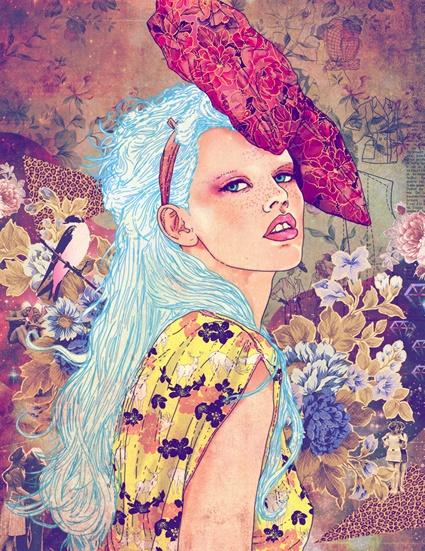 Fabian Ciraolo: Artists, Art Illustrations, Fabian Ciraolo, Fabianciraolo, Fabciraolo, Blue Hair, Colors Palettes, Fab Ciraolo, Fashion Illustrations