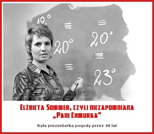 """Elżbieta Sommer, czyli niezapomniana """"Pani Chmurka"""""""