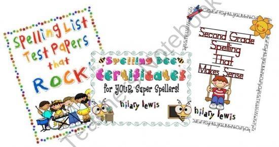 Spelling Resource Bundle-Second Grade product from Rockin-Teacher-Materials on TeachersNotebook.com