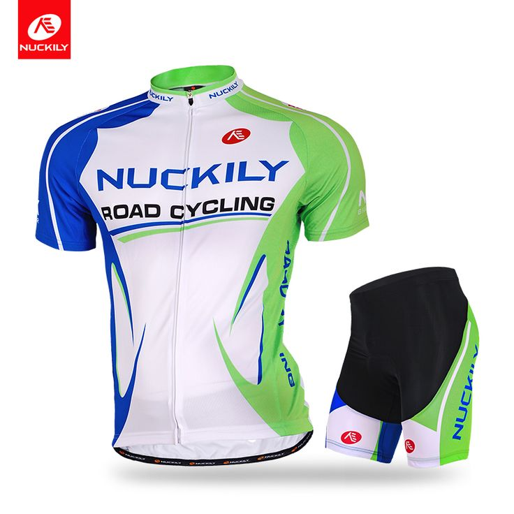 Nuckily summer short sleeve couple nature green cycling suit for men MA003MB003