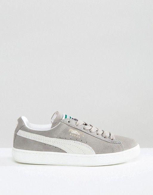 Puma | Puma Classic Suede Basket Sneakers In Gray