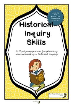 Investigating historic events and people involves a process of inquiry. This pack takes you through the process step-by-step. Also included are display materials to support your teaching of the stages. There are direct links with the contents of this pack to the content of the Australian Curriculum.