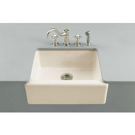 kohler alcott 220000 in x 250000 in biscuit single basin basin fireclay - Kohler Armaturen Kche