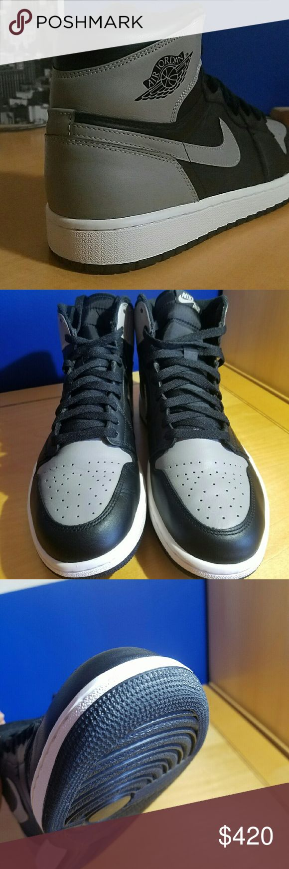 Air Jordan 1 Retro High OG shadow 100% Authentic Jordan 1 Shadow. Worn once black and grey leather Nike Shoes Sneakers