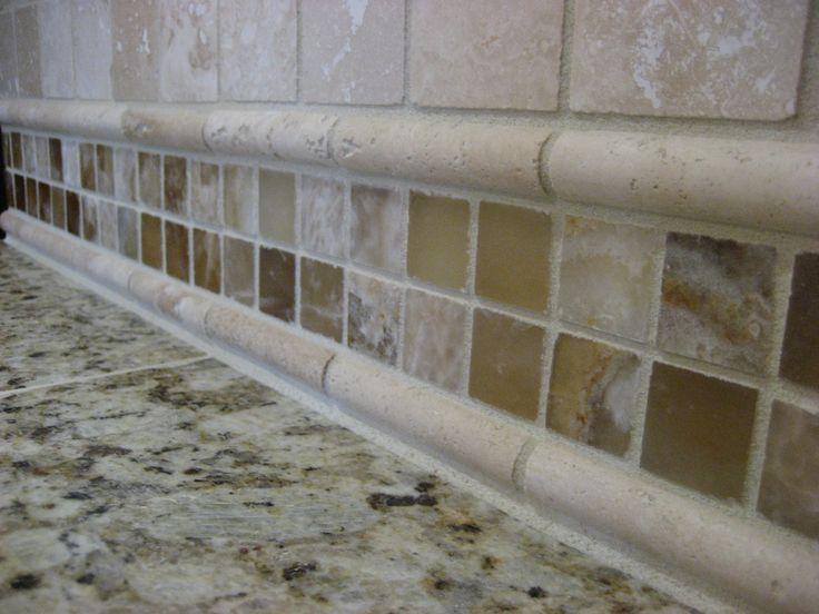 62 best images about tile backsplashes on pinterest for Travertine backsplash tile ideas
