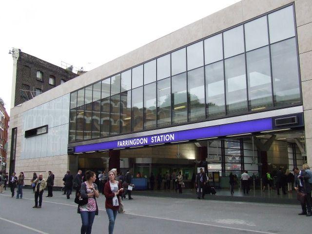 Farringdon Railway Station (ZFD) in London, Greater London
