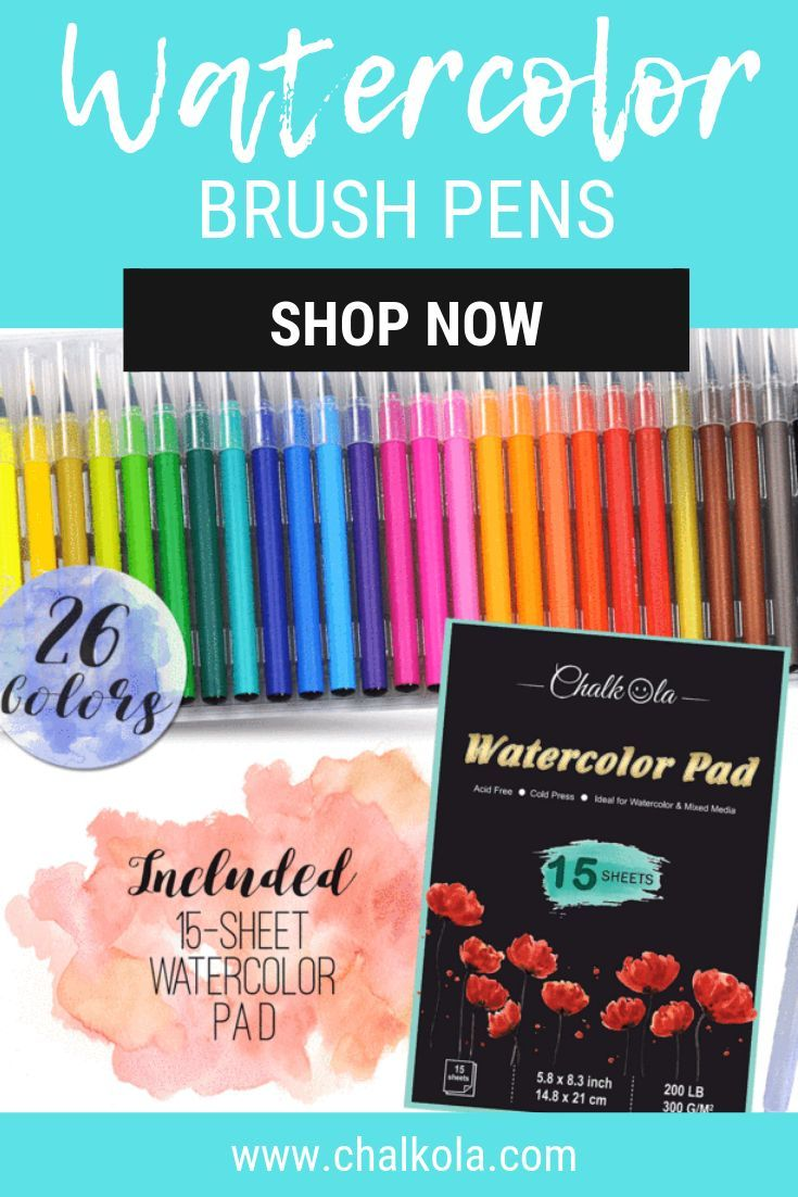 Superior 12 Colors Watercolor Brush Pen Set Waterproof Soft Smooth