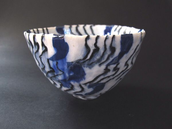 Woodfired bowl by Lisbeth Skytte Christiansen