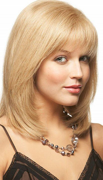 medium cut hair style lovely shoulder length layered bob hairstyles with bangs 5692 | db46a5572cbdf92e4e944477e76b7921 layered bob hairstyles hairstyles for round faces