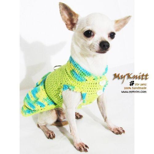 Cachorro-Cute-vestido-Pet-roupas-rusticas-cachorrinho-roupas-Yorkie-croche-feitos-a-mao-DK973