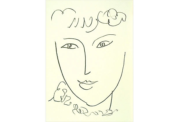 This is an open-edition offset lithograph, printed on Vélin paper. It is an unsigned reproduction of Matisse's La Pompadour, a 1951 panting. Limited time: $59.00