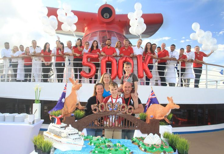 @Carnival Cruise Line Australia has marked its half a millionth passenger on the @Carnival Spirit