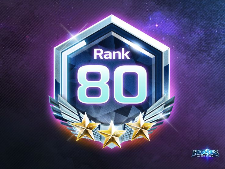 Heroes of the Storm Rank Icon by Noah Watkins