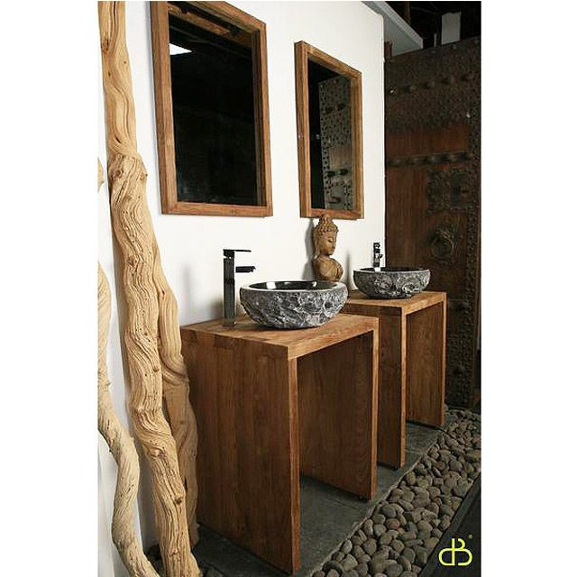 Тумба под раковину из массива тика.             Материал: Дерево.              Бренд: Teak House.              Стили: Лофт, Скандинавский и минимализм.              Цвета: Коричневый.