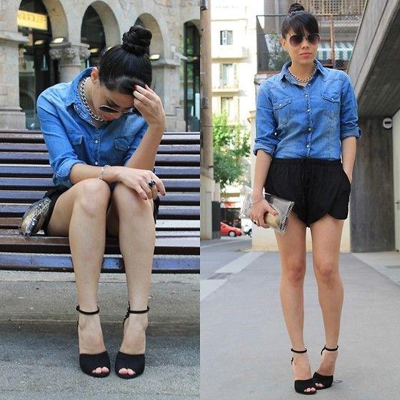 #Fashion #style #jeans #camisa #tejana #moda #lookbook #sandalias #negras #mayitapink #love #DIY #clutch #transparentes