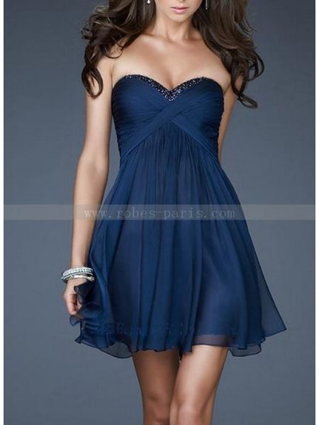 robe de cocktail TC2028 Le bleu profond TC2028 | robes-paris.com