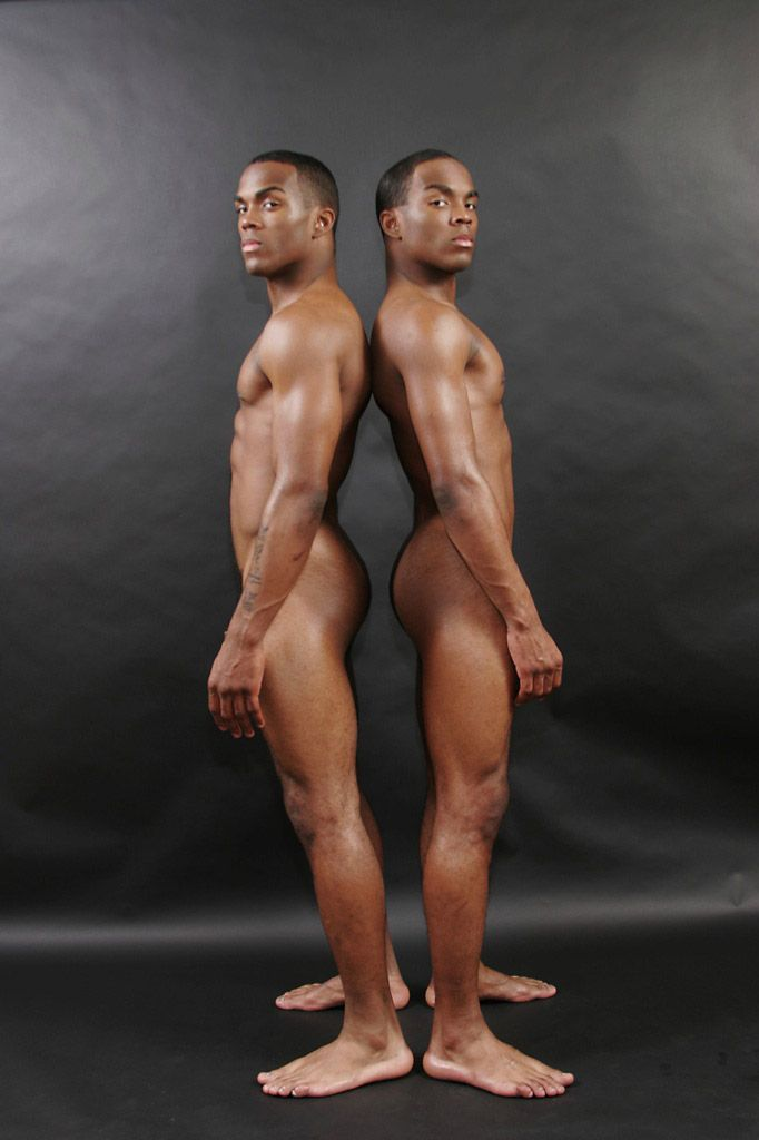 Naked twin men