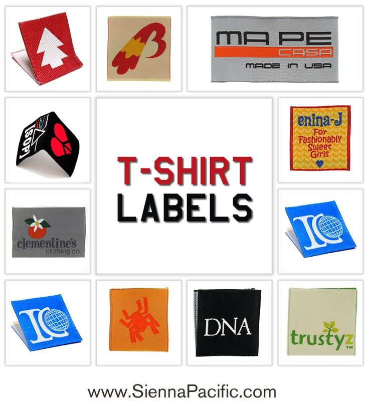 12 best satin printed clothing labels images on pinterest for T shirt printing and labeling
