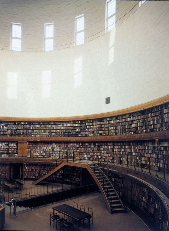 Stockholm Public Library, Asplund amazing architecture