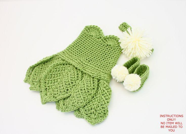 DIGITAL PATTERN:Baby Tinkerbell Costume PATTERN,Crochet Baby Dress Pattern,Crochet Tinkerbell Dress