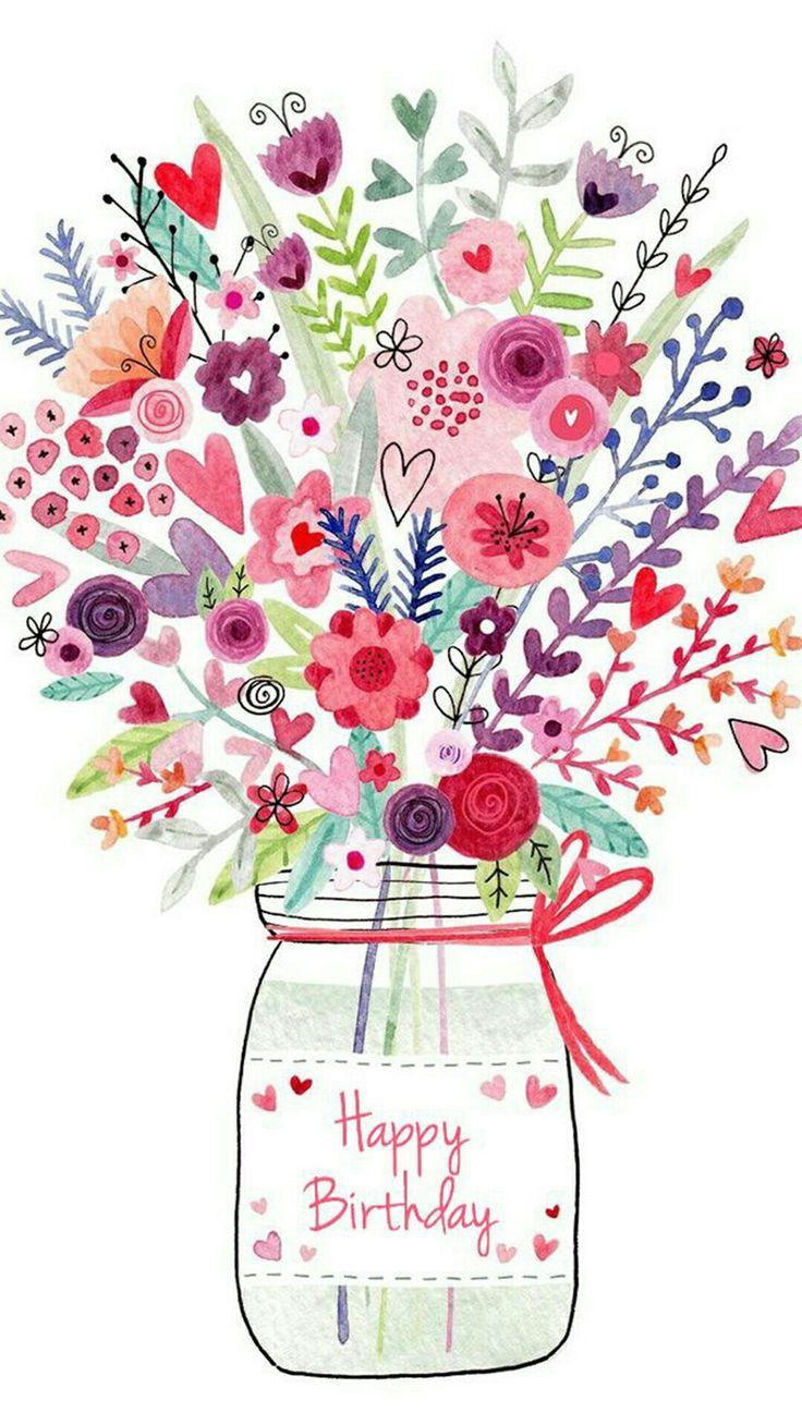 дизайнерские открытки с цветами с днем рождения квартиру