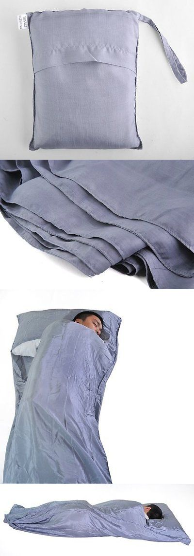 Blankets and Liners 111261: Silver 100% Pure Mulberry Silk Single Sleeping Bag Liner Travel Sheet Sleepsack -> BUY IT NOW ONLY: $42.28 on eBay!
